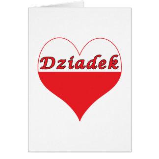 Dziadek Polish Heart Card