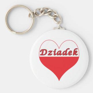 Dziadek Polish Heart Key Chain