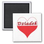 Dziadek Polish Heart Refrigerator Magnet