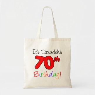 Dziadek's 70th Milestone Birthday Tote Bag