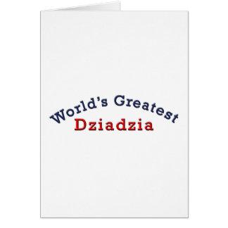 Dziadzia más grande del mundo tarjeta de felicitación