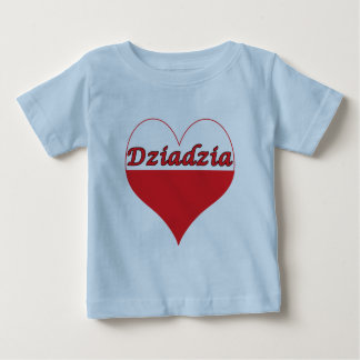Dziadzia Polish Heart Baby T-Shirt