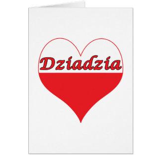 Dziadzia Polish Heart Card
