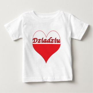 Dziadziu Polish Heart Baby T-Shirt