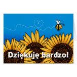 Dziękuję bardzo! (Polish Thank you card)