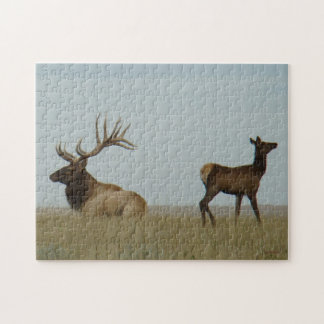 E0005 Bull and Yearling Elk Jigsaw Puzzle