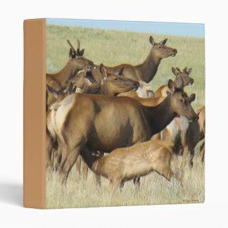 E0007 Cow Elk Feeding Calf binder