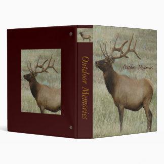 E0008 Bull Elk in Velvet 3 Ring Binder