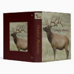 E0008 Bull Elk in Velvet Vinyl Binders