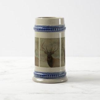 E0010 Bull Elk in Velvet Beer Stein