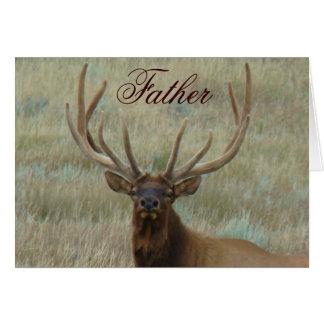 E0010 Bull Elk in Velvet Head Greeting Card
