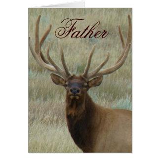 E0010t Bull Elk in Velvet Head Card