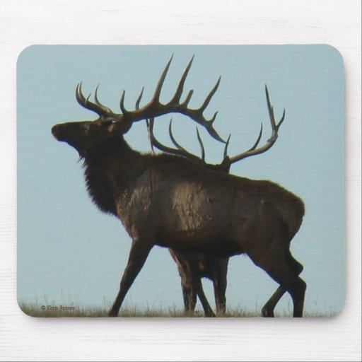 E0011 Bull Elk Horns on the Horizon Silhouette Mouse Pad