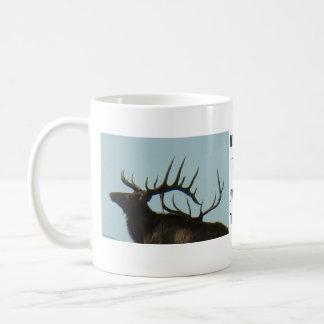 E0011 Bull Elk silhouette Mug