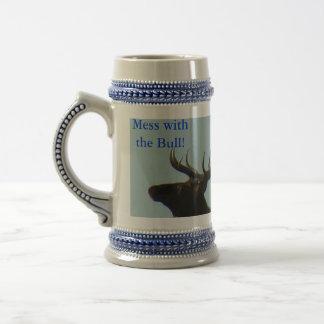 E0011 Bull Elk silhouette Coffee Mug