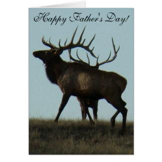 E0014 Bull Elk Horns on the Horizon Silhouette Cards