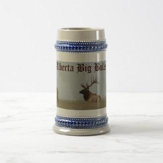 E0015 Bull Elk and Yearlings Beer Stein