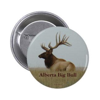 E0015 Bull Elk Pinback Button