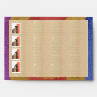 E001 NUMBER1 Satin Silk Sparkle Rich Border Envelope