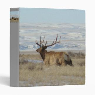 E0022 Bull Elk in Snow Binder