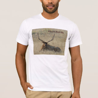 E0025 Bull Elk Laying in the Grass T-Shirt