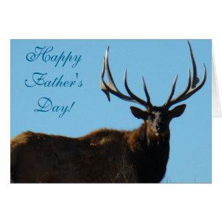 E0027 Bull Elk Sky Lined Greeting Cards