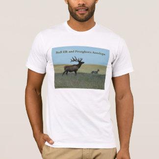 E0034 Bull Elk and Pronghorn Antelope T-Shirt