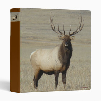 E0046 Bull Elk 3 Ring Binder