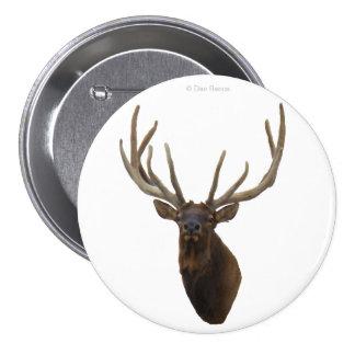 E0048 Bull Elk Head in Velvet Button