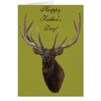 E0048 Bull Elk Head in Velvet Card