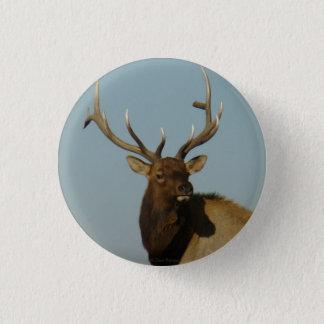 E0049 Bull Elk Pinback Button