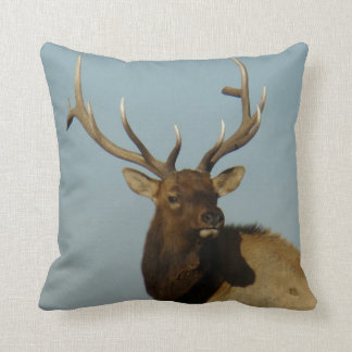 E0049 Bull Elk Throw Pillow