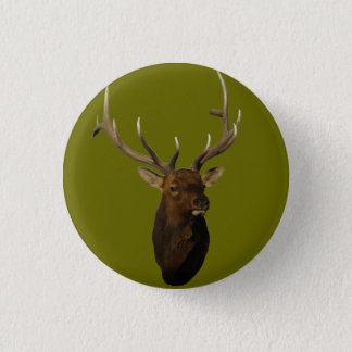 E0051 Bull Elk Head Pinback Button