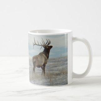 E0057 Bull Elk Lucky 13 Bull Coffee Mug