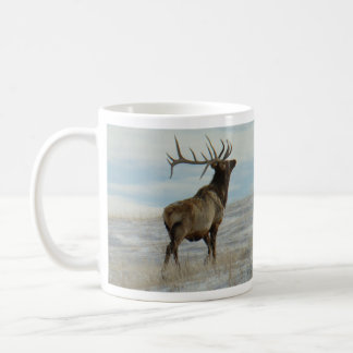 E0058 Bull Elk Lucky 13 Bull Coffee Mug