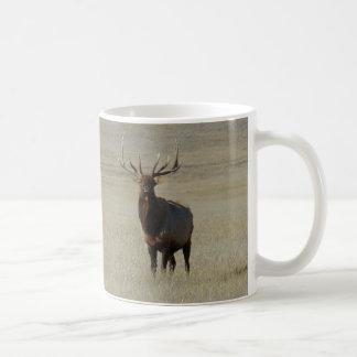 E0059 Bull Elk Classic White Coffee Mug