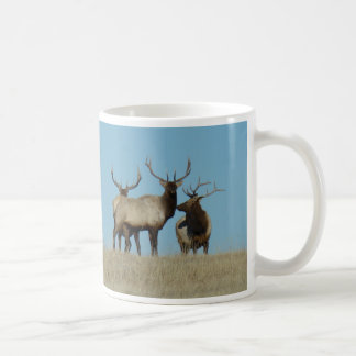 E0060 Bull Elk Sky Lined Classic White Coffee Mug