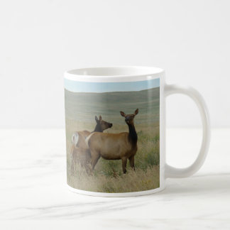 E0061 Cow Elk and Calf Coffee Mug