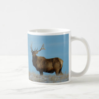 E0062 Bull Elk Sky Lined Classic White Coffee Mug