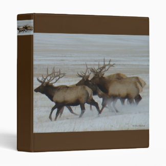 E0064 Bull Elk 3 Ring Binder