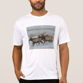 E0064 Bull Elk Running T-Shirt