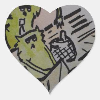 """E17 Art Trail"" cat burglar Heart Sticker"