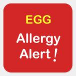 e1 - Allergy Alert - EGGS. Stickers