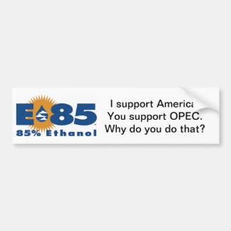 """E85 """"Support America"""" bumper sticker"""