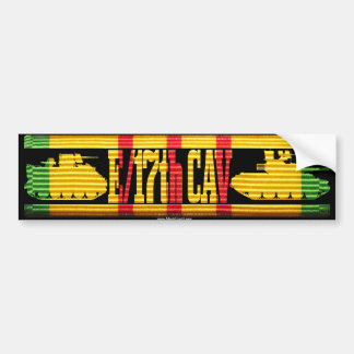 E/17th Cav Track & Tank Car Bumper Sticker