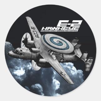 E-2 Hawkeye Classic Round Sticker