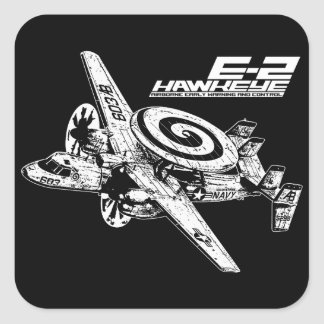 E-2 Hawkeye Pegatina Cuadrada