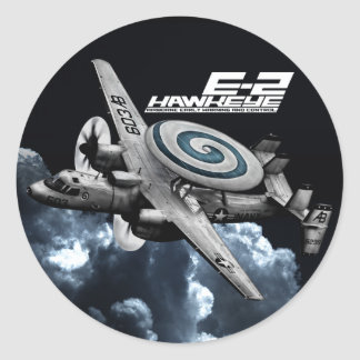 E-2 Hawkeye Pegatina Redonda
