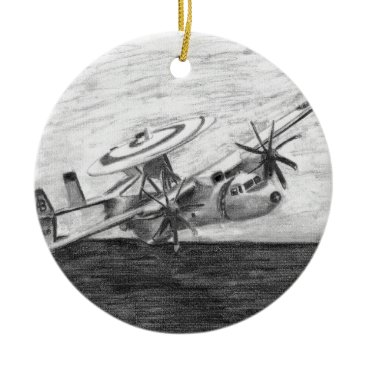 E-2C Hawkeye (Screwtop) Ceramic Ornament