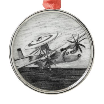 E-2C Hawkeye (Screwtop) Metal Ornament